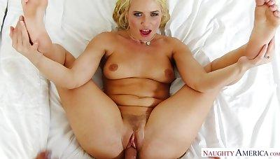 Anikka Albrite shagging in the bedroom less the brush seethe butt