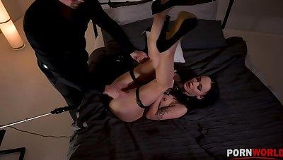 Kinky BDSM instalment with Sasha Sparrow's ass penetrated by a fucking machine GP1254