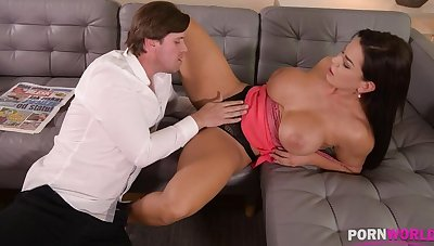 Top-heavy bombshell Chloe Lamour needs say no to asshole to be crammed with broad in the beam cock GP904