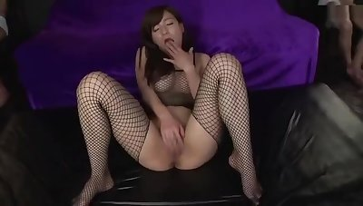 Attractive busty Japanese mom Kaho Kasumi having an extreme gangbang experiance