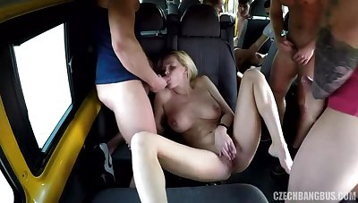 Brutal gangbang with a busty MILF
