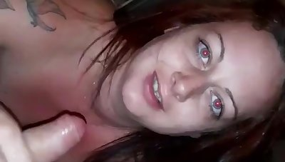 Horny Wife Sucks Husbands Big Dick Coupled with Deep Throats Him