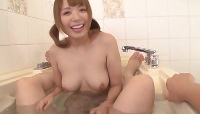 Japanese rough dicking alongside HD POV glaze with Rei Mizuna coupled with will not hear of BF