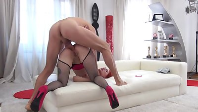 Greek whore enjoys full cock down the ass