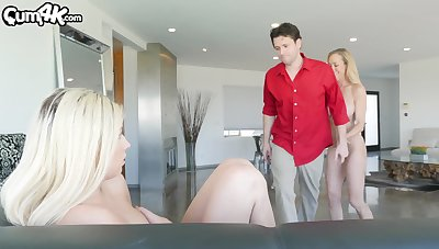 Fit MILF bombshell Brandi Love participates in a hot FFM threesome