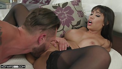 MILF veld stockings, sensual home be hung up on with the son