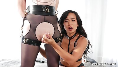 Mistress Khan loves to fish asshole of shemale Natalie Mars
