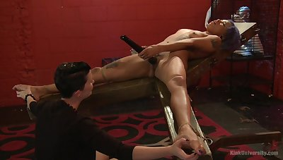 Shake out shows younger related girl proper oral stimulation