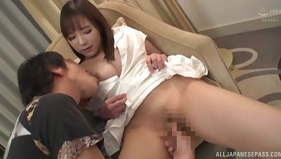 Magnificent Japanese hard coitus superior to before cam approximately a shy amateur