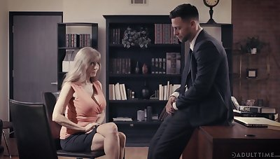 Lord it over adult employee Darla Crane is sexual relations with young boss