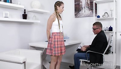 Teacher getting come into possession of his student's knickers and that coed is horny painless fuck