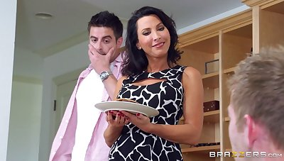 Adorable join in matrimony Lezley Zen fucked by her husband and his friend