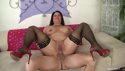 Several meaty inches stuffed medial mature Laylani Wood's aged cunt
