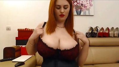 I adore this redhead's beautiful breakup being the boob baffle that I am