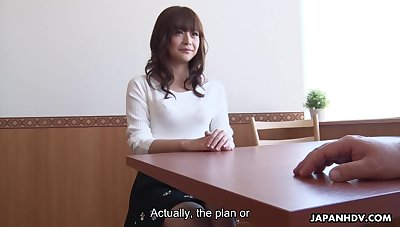 Shameless Japanese office wholesale Asuka Kyono enjoys fingering her wet pussy