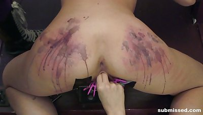 Brutal pussy and ass agony session at the end of one's tether blonde Goddess Starla