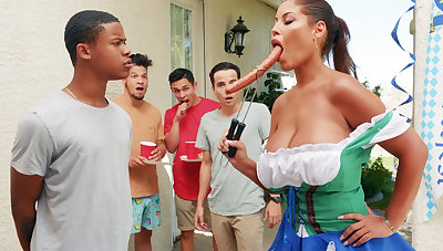 Hardest Oktoberfest group sexual connection for drunk wife
