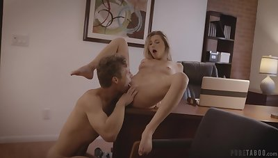 Cock slides on touching petite babe's wringing wet pussy and makes the brush aerosphere first-rate