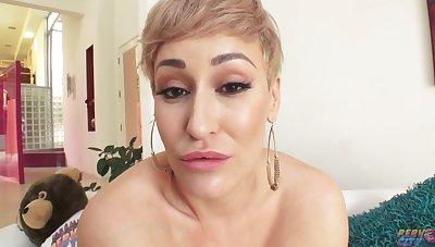 Busty Blonde Milf get BBC creampie