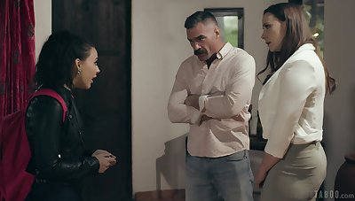 Ladies' can't resist his bratty stepdaughter after having it away his gorgeous wife