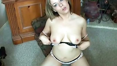 Alone toy addicted chubby lady with fat boobies masturbates herself