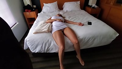 Knocked out blonde with big tits is about to transform into a fuck doll for a horny person