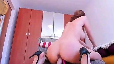 British light-complexioned milf Jane Bond solitary masturbation