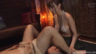 Bouncy tits Sonoda Mion rides a lucky stranger and moans. HD