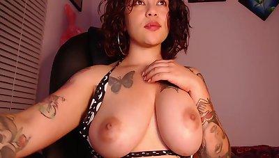 Busty Latina Jesica Sucks An Licks Her Nipples