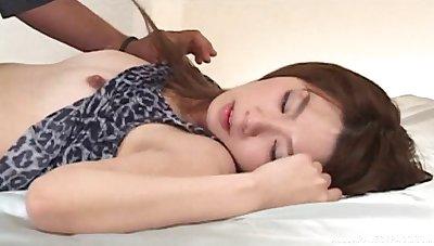 Asian amateur cutie Aki Katase enjoys getting fucked on the bed