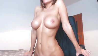 Posing Naked And Caressing Pussy