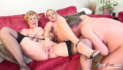 Pretty good british matures got both fucked by means of hard rough sex session round one big cock