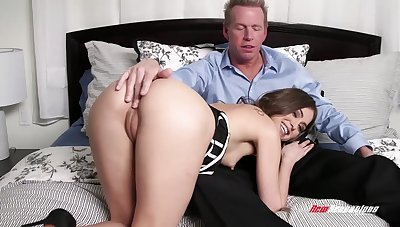 Stepdaughter gets intimate with her stepdad and that babe loves to drove a dick