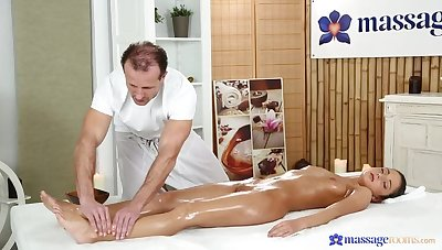 Place off limits Client Bends Over For Someone's skin Full Massage