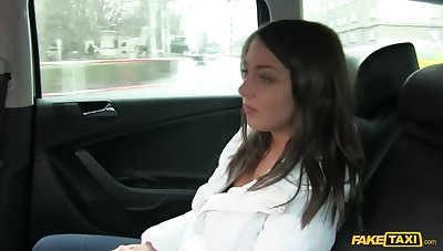 Adorable Brunette Rides Taxi Driver's Cock When She Can't Be able Fare
